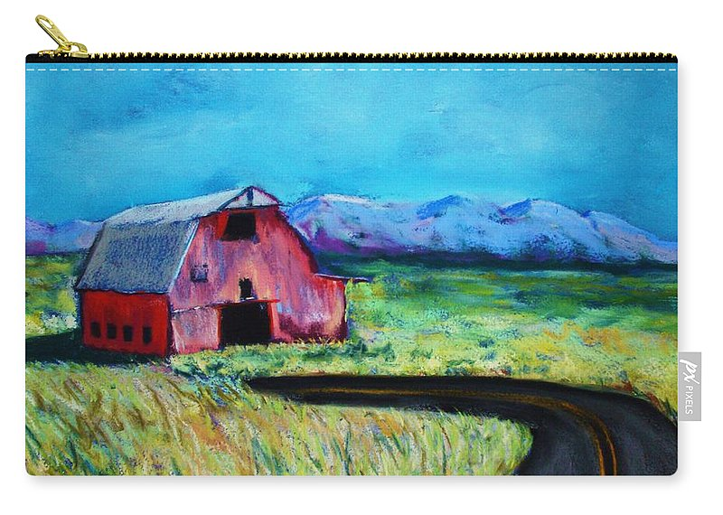 Barn Carry-all Pouch featuring the pastel Bradley's Barn by Melinda Etzold