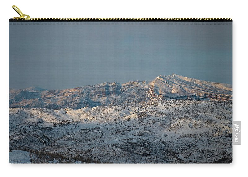 Bradost Carry-all Pouch featuring the photograph Bradost In The Winter by Adam Mirani
