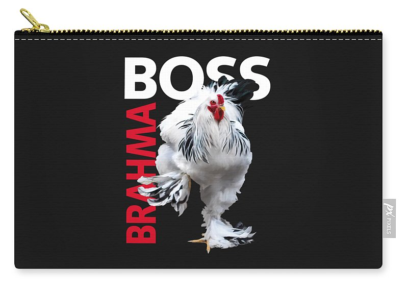 Light Brahma Carry-all Pouch featuring the digital art Brahma Boss II T-shirt Print by Sigrid Van Dort