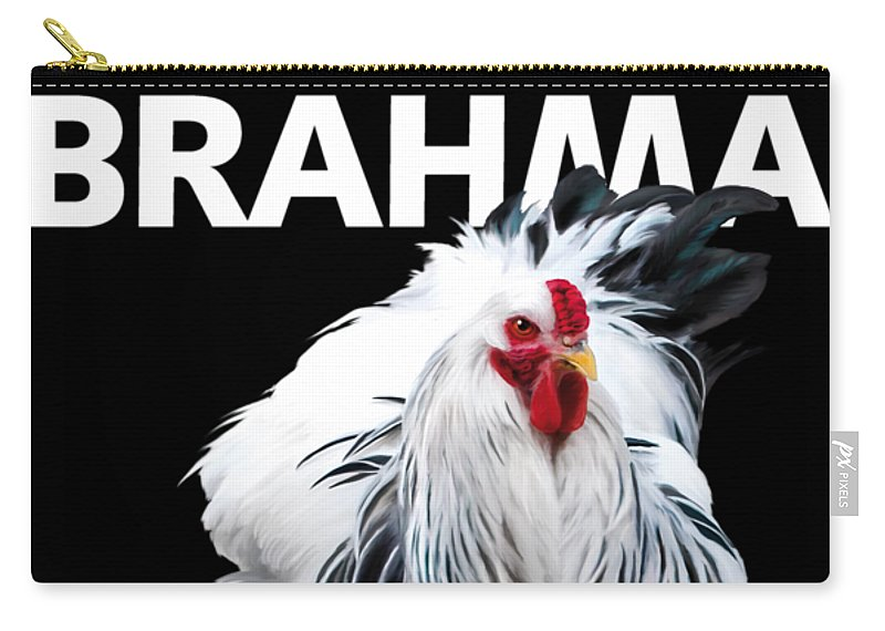 Brahma Carry-all Pouch featuring the digital art Brahma breeders Rock t-shirt print by Sigrid Van Dort