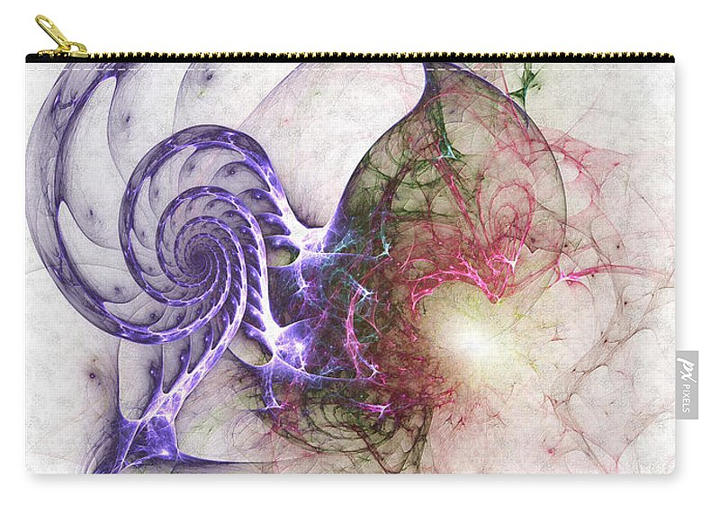 Abstract Carry-all Pouch featuring the digital art Brain Damage by Casey Kotas