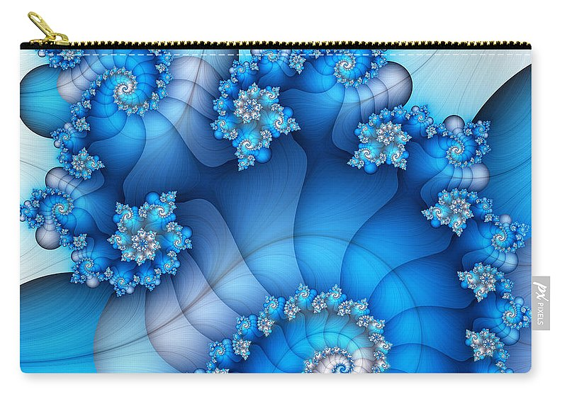 Fractal Carry-all Pouch featuring the digital art Brainstorming by Jutta Maria Pusl