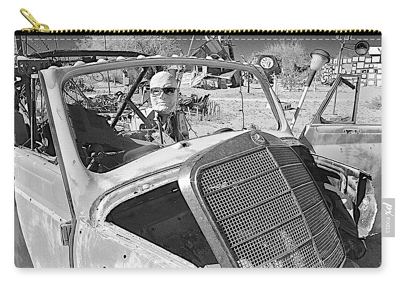 Black And White Carry-all Pouch featuring the photograph Braking Bald by FlyingFish Foto
