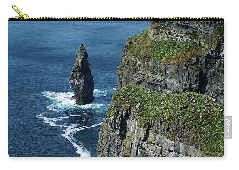 Irish Carry-all Pouch featuring the photograph Brananmore Cliffs Of Moher Ireland by Teresa Mucha