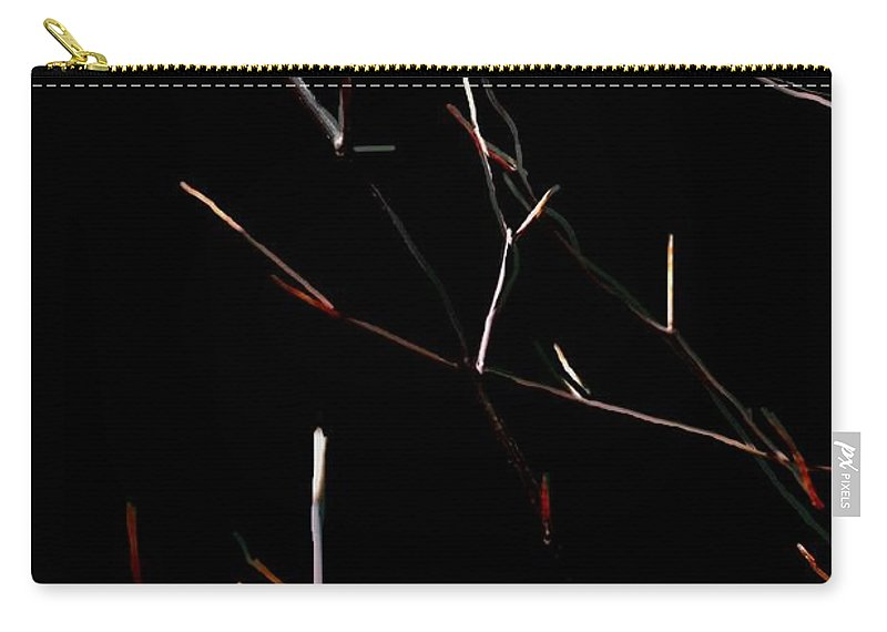 Carry-all Pouch featuring the digital art Branches In The Dark by David Lane