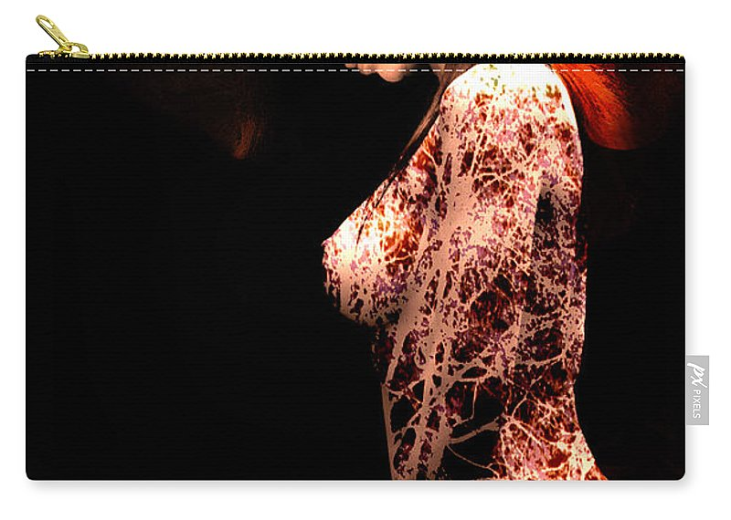 Clay Carry-all Pouch featuring the photograph Branching Out by Clayton Bruster