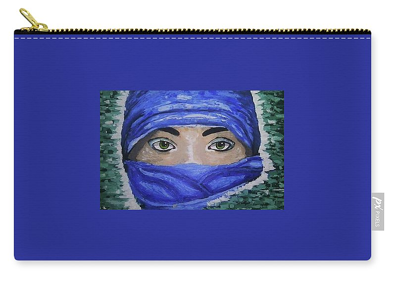 Veil Woman Eyes Carry-all Pouch featuring the painting Brand New Eyes by Neuville