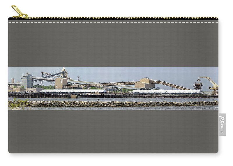 2d Carry-all Pouch featuring the photograph Brandon Shores Power Plant Pano 2 by Brian Wallace
