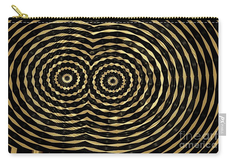 Abstract Carry-all Pouch featuring the digital art Brass And Ebony by Ron Bissett