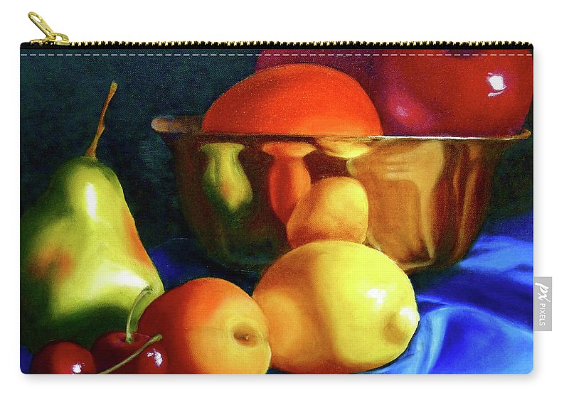 Still Llife Carry-all Pouch featuring the painting Brass Ensemble by Susan A Becker