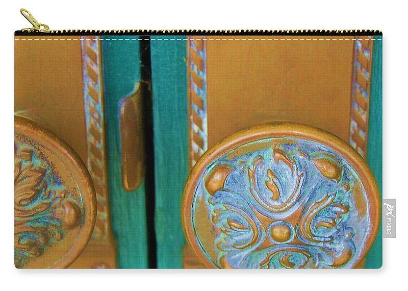 Door Carry-all Pouch featuring the photograph Brass Is Green by Debbi Granruth