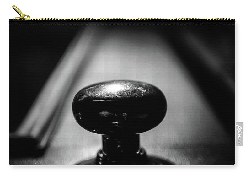 Abstract Carry-all Pouch featuring the photograph Brass Knob by Bob Orsillo