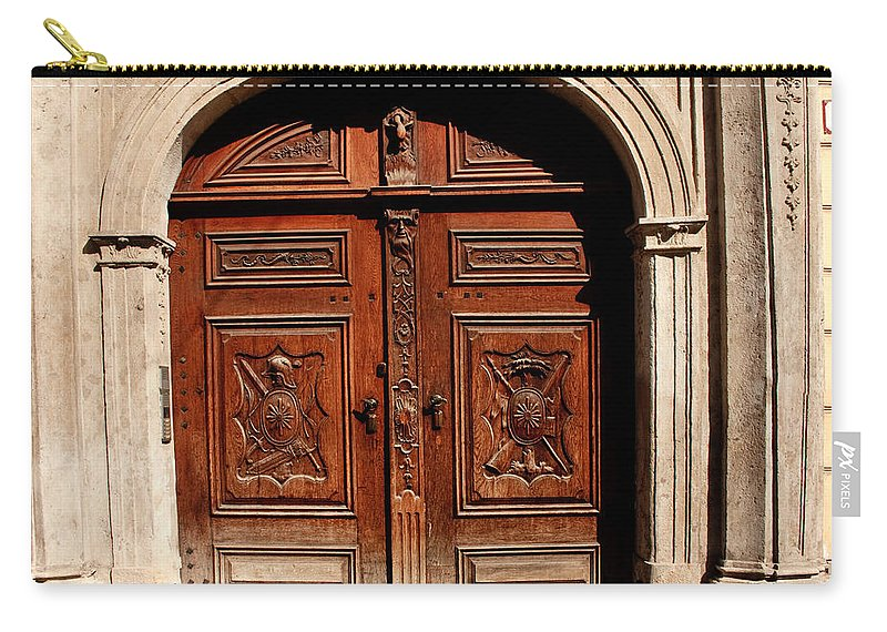 Doors Carry-all Pouch featuring the photograph Bratislava Doors by Thomas Marchessault