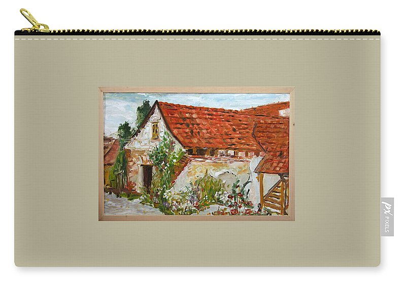 Landscape Carry-all Pouch featuring the painting Bratri Truhlari by Pablo de Choros