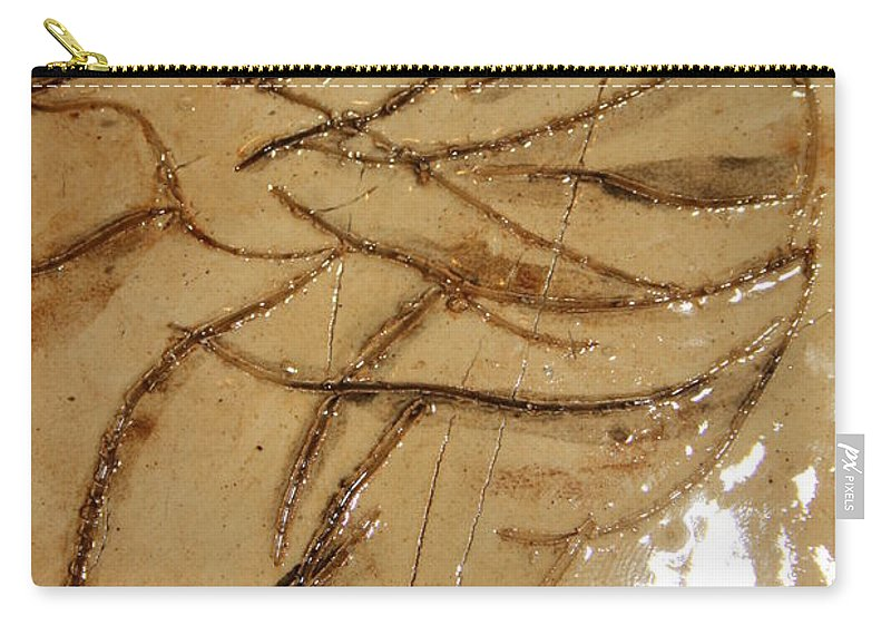 Gloria Ssali Carry-all Pouch featuring the ceramic art Brave Tile by Gloria Ssali