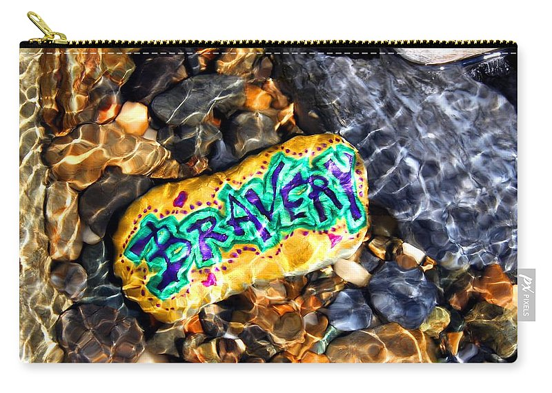 Carry-all Pouch featuring the photograph Bravery by Kathy Partak