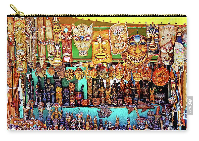 Brazil Carry-all Pouch featuring the photograph Brazilian Masks by Evan Peller