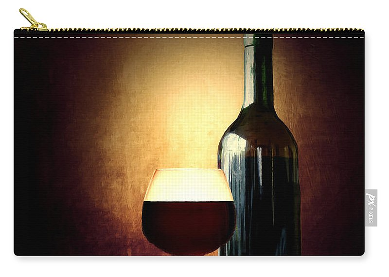 Wine Carry-all Pouch featuring the photograph Bread And Wine by Lourry Legarde