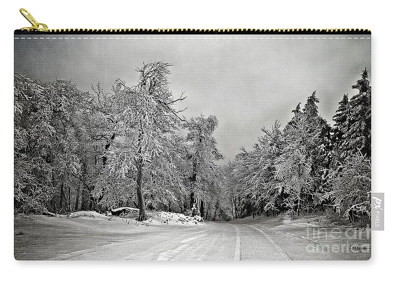 Snow Carry-all Pouch featuring the photograph Break In The Storm by Lois Bryan