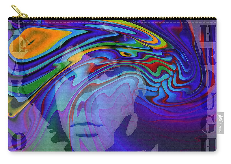 Digital Painting Jim Morrison The Doors Break On Through Expressionism Impressionism 60s 70s Immortal Portrait Man Young Male Songwriter Singer Carry-all Pouch featuring the painting Break On Through Two by Steve K