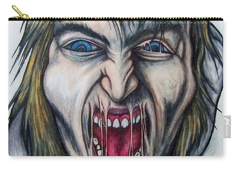 Tmad Carry-all Pouch featuring the drawing Break The Silence by Michael TMAD Finney