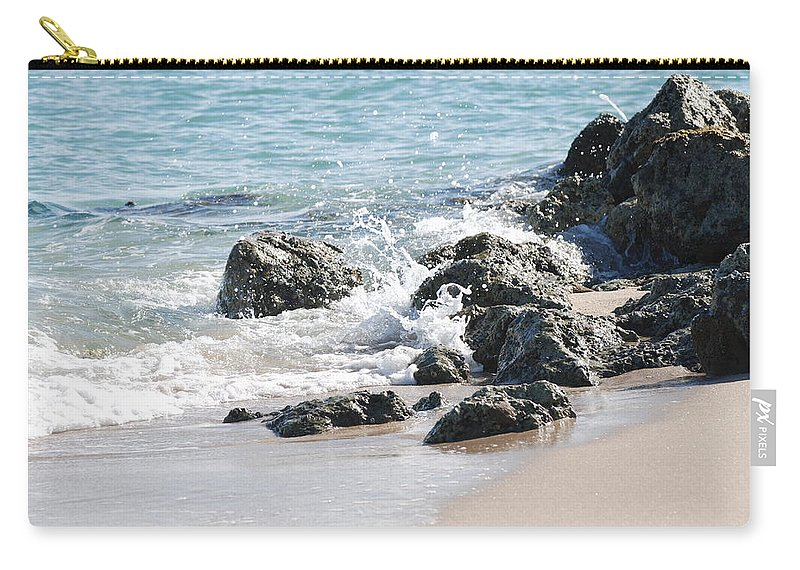 Scenic Carry-all Pouch featuring the photograph Breakers by Rob Hans