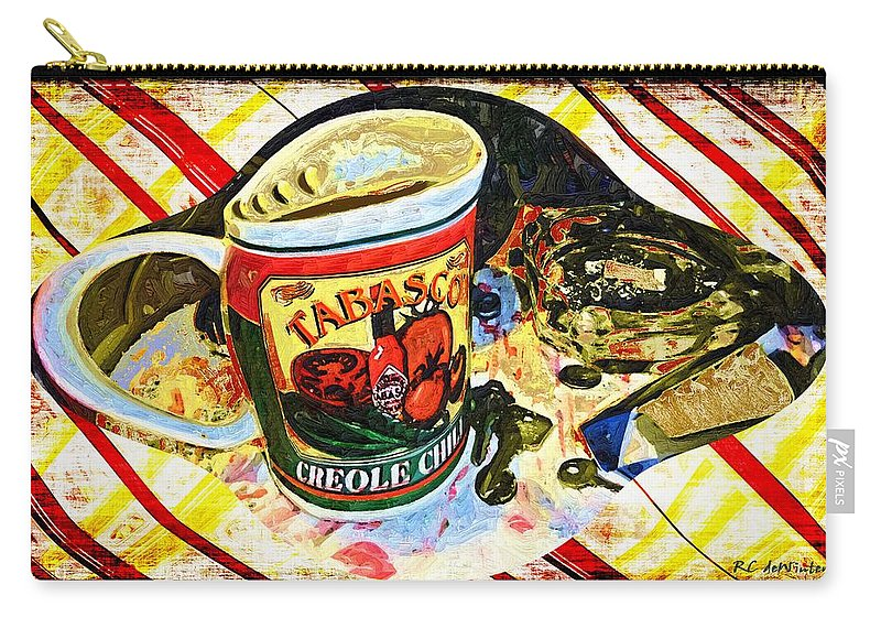 Still Life Carry-all Pouch featuring the painting Breakfast For One by RC DeWinter