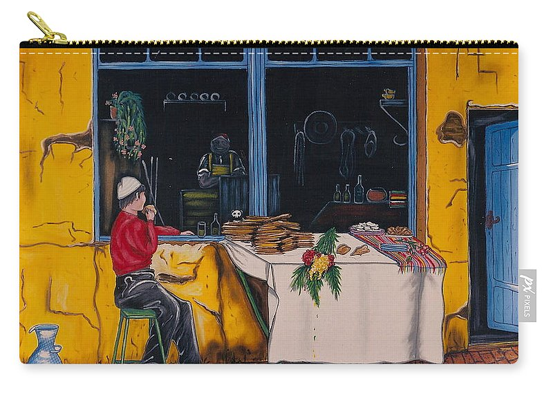 Capri Carry-all Pouch featuring the painting Breakfast In Capri by V Boge