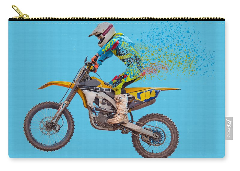 Motorbike Carry-all Pouch featuring the photograph Breaking Apart by Roy Pedersen