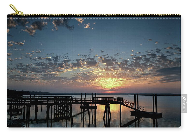 Landscape Carry-all Pouch featuring the photograph Breaking Clouds by Phill Doherty