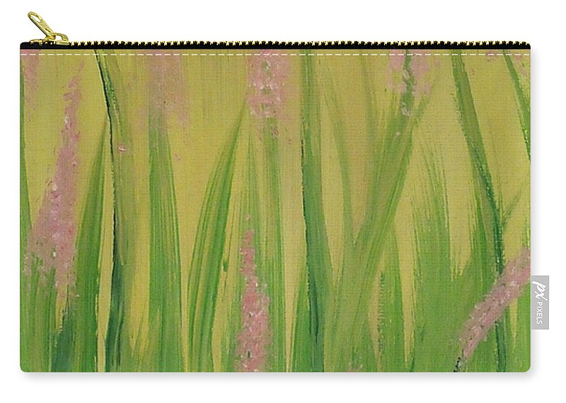 Flowers Carry-all Pouch featuring the painting Breaking Ground by Steve Cochran