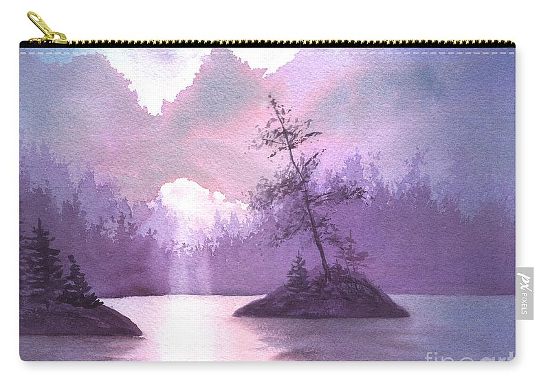 Landscape Carry-all Pouch featuring the painting Breakthrough by Lynn Quinn