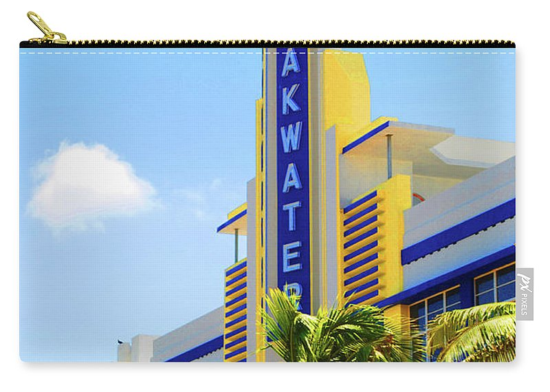 Breakwater Carry-all Pouch featuring the photograph Breakwater by Jost Houk