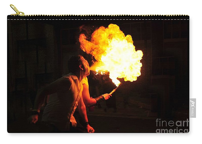 Fire Carry-all Pouch featuring the photograph Breath Of Fire by David Lee Thompson