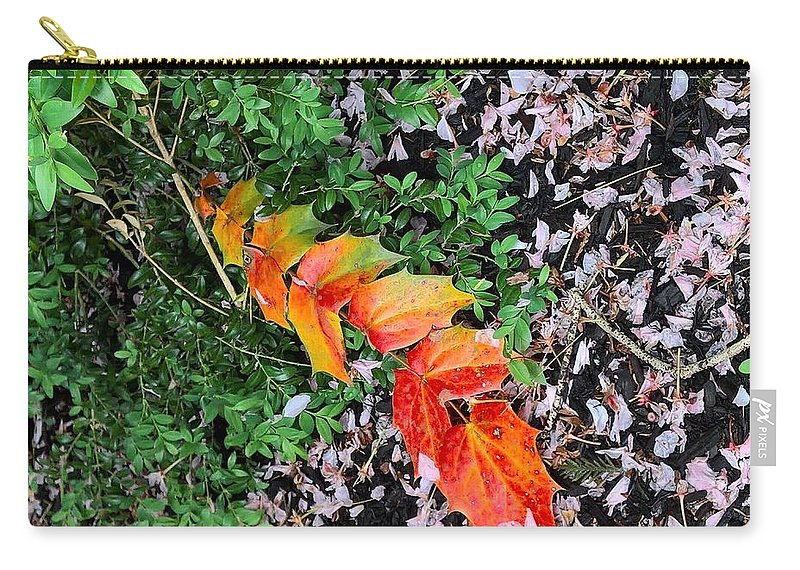 Contemporary Art Carry-all Pouch featuring the pyrography Breath Of Spring by Mira Satryan