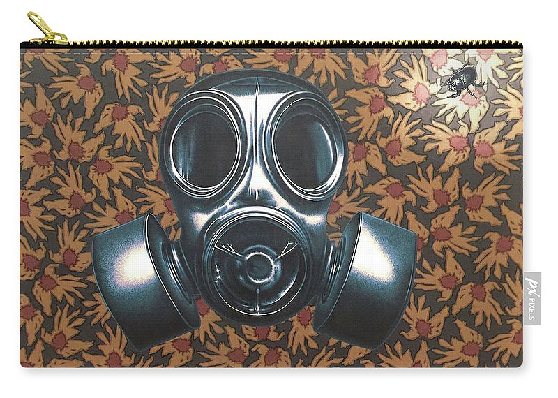 Gas Mask Carry-all Pouch featuring the painting Breathless by Stephen Hall