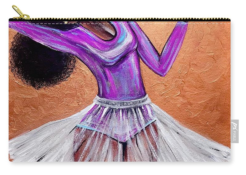 Ballerina Carry-all Pouch featuring the painting Breathtaking moments by Artist RiA