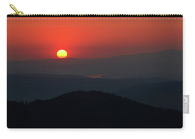 Hill Carry-all Pouch featuring the photograph Breathtaking Sunset At Tatra Mountains, Carpathian Region, Poland by Lukasz Szczepanski