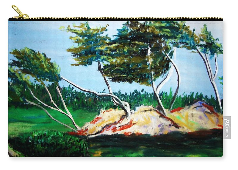 California Carry-all Pouch featuring the painting Breezy by Melinda Etzold