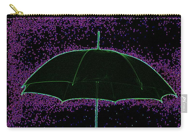 Umbrella Carry-all Pouch featuring the photograph Brella by Tim Allen