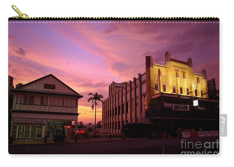 Evening Carry-all Pouch featuring the photograph Brewing Storm by Kerryn Madsen- Pietsch