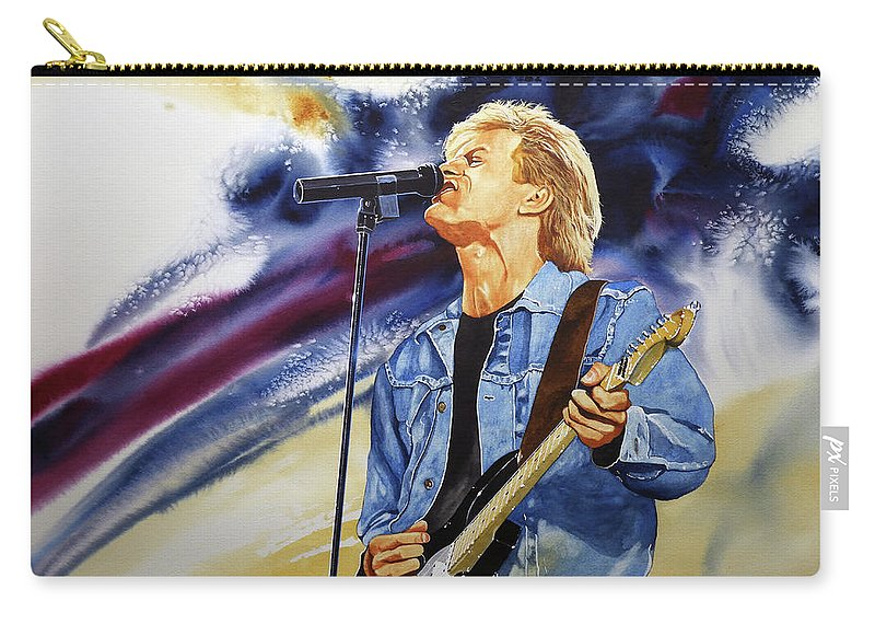 Brian Adams Watercolor Carry-all Pouch featuring the painting Rock On by Dale Cooper