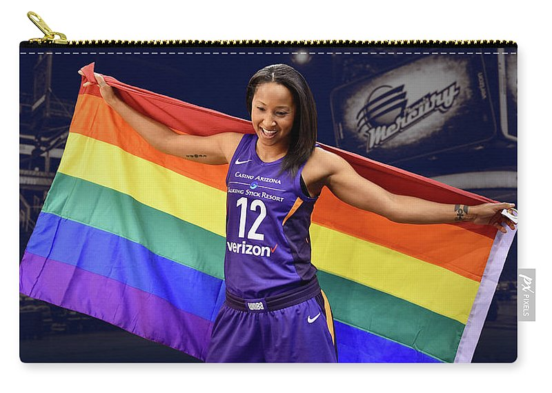 Briann January Carry-all Pouch featuring the photograph Briann January Lgbt Pride 2 by Devin Millington