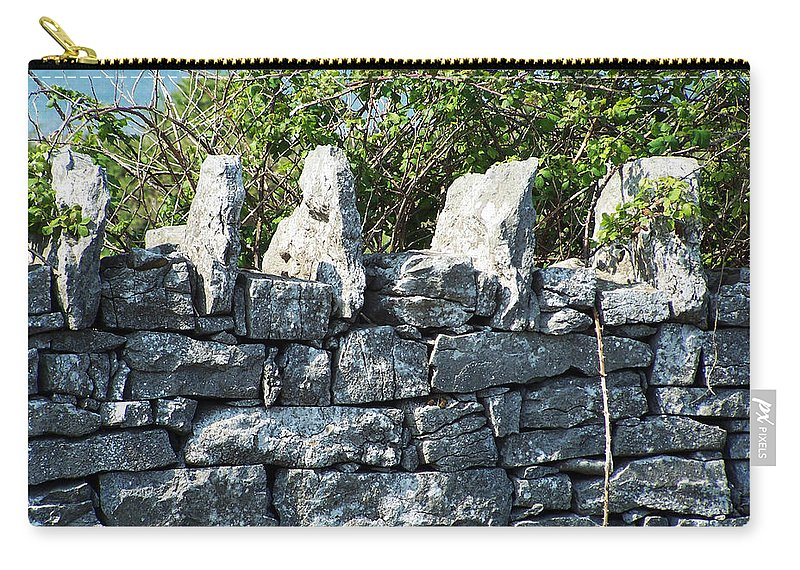 Irish Carry-all Pouch featuring the photograph Briars And Stones New Quay Ireland County Clare by Teresa Mucha