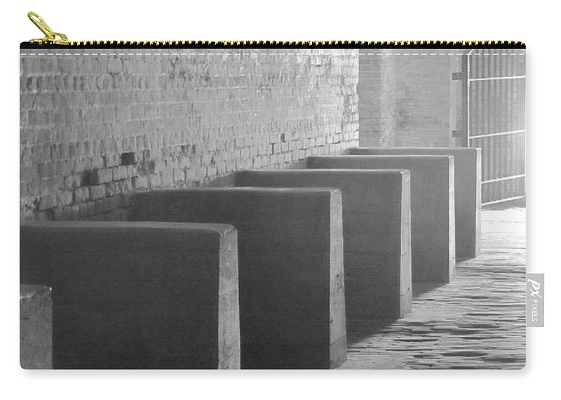 Art Carry-all Pouch featuring the photograph Brick And Stone by Michelle Powell