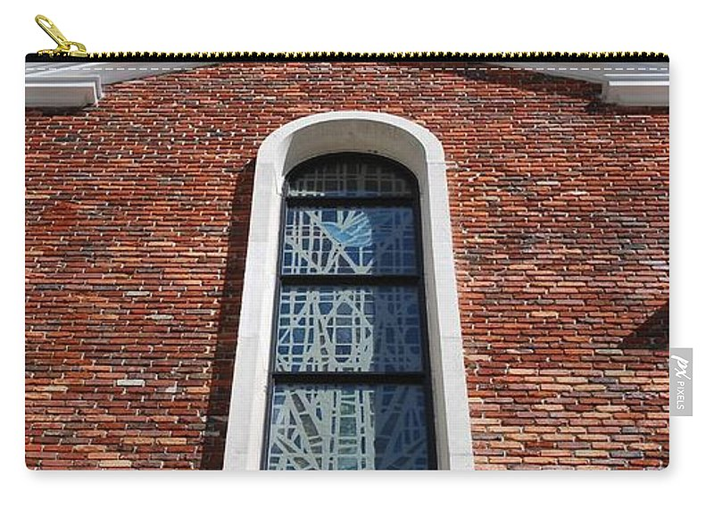 Architecture Carry-all Pouch featuring the photograph Brick Church by Rob Hans
