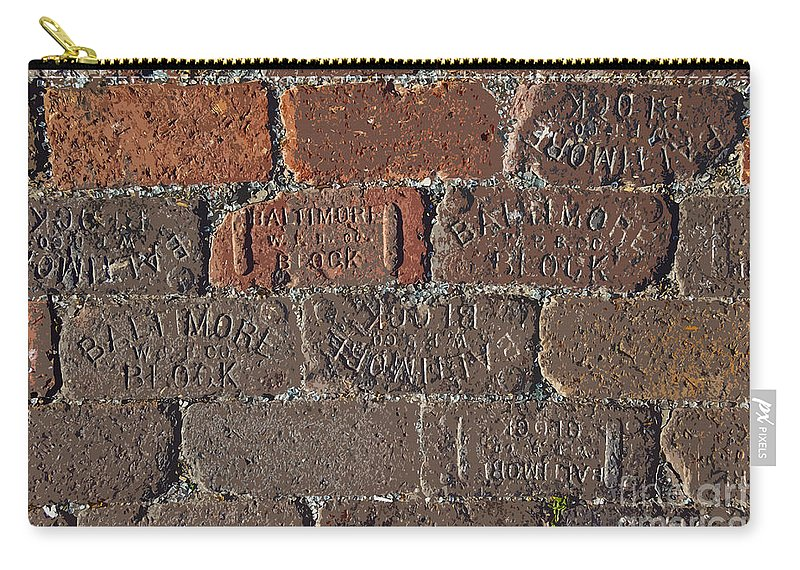 Street Carry-all Pouch featuring the painting Brick Street by David Lee Thompson
