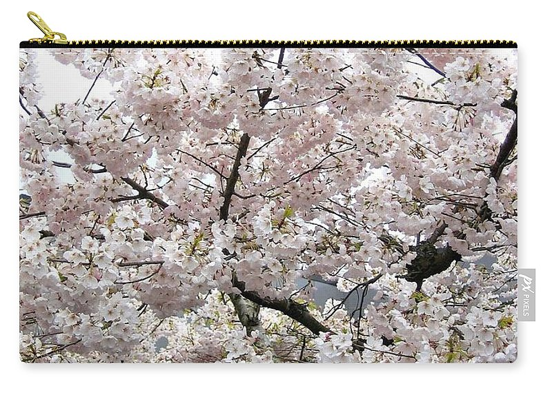 Bricks And Blossoms Carry-all Pouch featuring the photograph Bricks And Blossoms by Will Borden