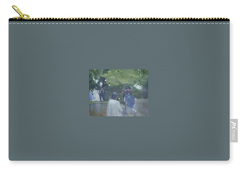 Wedding Carry-all Pouch featuring the painting Bridal Showers by Sheila Mashaw
