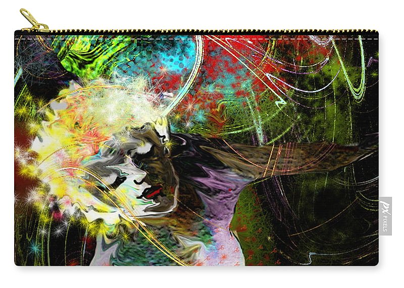 Fantasy Carry-all Pouch featuring the painting Bride Of Halos by Miki De Goodaboom